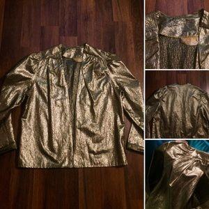🦋2/$10 3/$15 4/$18 5/$20 Vintage Gold Foil Jacket